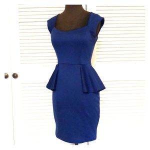 Dresses & Skirts - Blue peplum dress